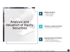 Analysis And Valuation Of Equity Securities Ppt PowerPoint Presentation Icon Slide Portrait