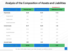 Analysis Of The Composition Of Assets And Liabilities Ppt PowerPoint Presentation File Display