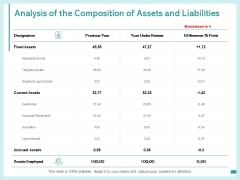 Analysis Of The Composition Of Assets And Liabilities Ppt PowerPoint Presentation Summary Outfit