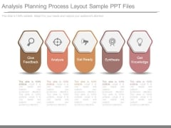 Analysis Planning Process Layout Sample Ppt Files
