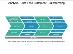 Analysis Profit Loss Statement Brainstorming Ppt PowerPoint Presentation Icon Graphics Tutorials