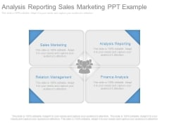 Analysis Reporting Sales Marketing Ppt Example