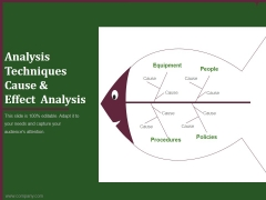 analysis techniques cause and effect analysis ppt powerpoint presentation ideas
