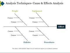 Analysis Techniques Cause And Effects Analysis Ppt PowerPoint Presentation Pictures Slide Download