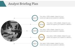 Analyst Briefing Plan Ppt PowerPoint Presentation Portfolio