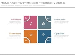 Analyst Report Powerpoint Slides Presentation Guidelines