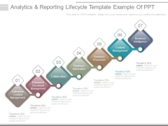Analytics And Reporting Lifecycle Template Example Of Ppt