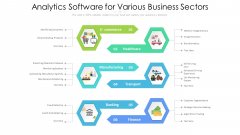 Analytics Software For Various Business Sectors Ppt PowerPoint Presentation Layouts Diagrams PDF