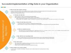 Analytics Successful Implementation Of Big Data Organization Ppt Infographics PDF