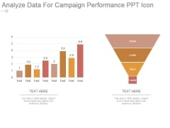 Analyze Data For Campaign Performance Ppt Icon