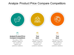 Analyze Product Price Compare Competitors Ppt PowerPoint Presentation Ideas Portfolio Cpb Pdf