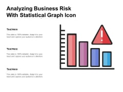 Analyzing Business Risk With Statistical Graph Icon Ppt PowerPoint Presentation Outline Portfolio PDF