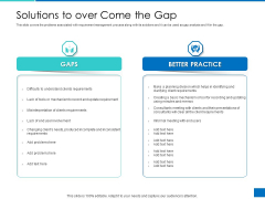 Analyzing Requirement Management Process Solutions To Over Come The Gap Graphics PDF