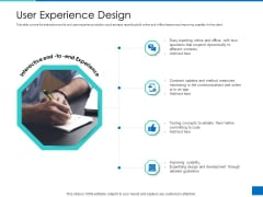 Analyzing Requirement Management Process User Experience Design Icons PDF