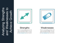 Analyzing Strengths And Weaknesses To Achieve Growth Ppt PowerPoint Presentation Outline Template