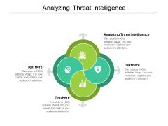 Analyzing Threat Intelligence Ppt PowerPoint Presentation Styles Example Cpb Pdf