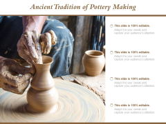 Ancient Tradition Of Pottery Making Ppt Powerpoint Presentation Slides Themes