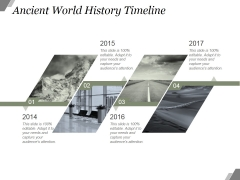 Ancient World History Timeline Ppt PowerPoint Presentation Model