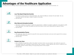Android Framework For Apps Development And Deployment Advantages Of The Healthcare Application Summary PDF