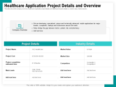 Android Framework For Apps Development And Deployment Healthcare Application Project Details And Overview Information PDF