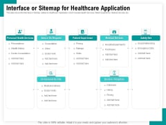 Android Framework For Apps Development And Deployment Interface Or Sitemap For Healthcare Application Ideas PDF