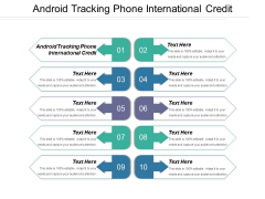 Android Tracking Phone International Credit Ppt PowerPoint Presentation Outline Good