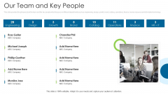 Angel Contributor Funding Pitch Our Team And Key People Download PDF