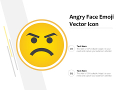 Angry Face Emoji Vector Icon Ppt PowerPoint Presentation Gallery Guide PDF