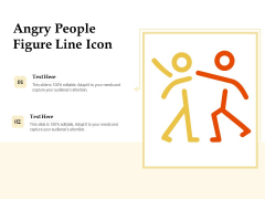 Angry People Figure Line Icon Ppt PowerPoint Presentation File Gridlines PDF
