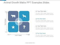 Animal Growth Matrix Ppt PowerPoint Presentation Sample