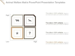 Animal Welfare Matrix Ppt PowerPoint Presentation Gallery