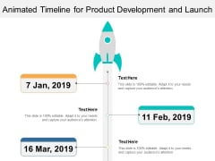 Animated Timeline For Product Development And Launch Ppt PowerPoint Presentation Visual Aids Infographic Template