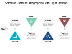 Animated Timeline Infographics With Eight Options Ppt PowerPoint Presentation Slides Themes