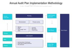 Annual Audit Plan Implementation Methodology Ppt PowerPoint Presentation Ideas Format