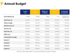 Annual Budget Ppt PowerPoint Presentation Portfolio Picture