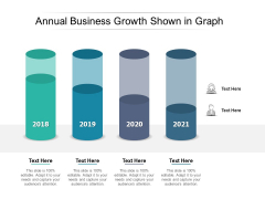 Annual Business Growth Shown In Graph Ppt PowerPoint Presentation Slides Mockup