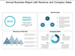 Annual Business Report With Revenue And Company Sales Ppt PowerPoint Presentation Model Template
