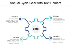 Annual Cycle Gear With Text Holders Ppt PowerPoint Presentation Styles Guidelines