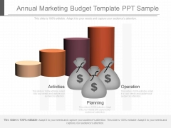 Annual Marketing Budget Template Ppt Sample