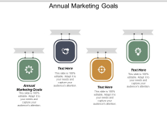 Annual Marketing Goals Ppt PowerPoint Presentation Show Gridlines Cpb
