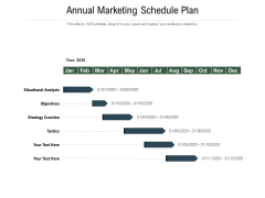 Annual Marketing Schedule Plan Ppt PowerPoint Presentation Infographics Images PDF