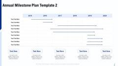Annual Milestone Plan Annual Milestone Plan Text Ppt Inspiration Format Ideas PDF