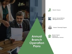 Annual Operative Action Plan For Organization Annual Branch Operation Plans Brochure PDF