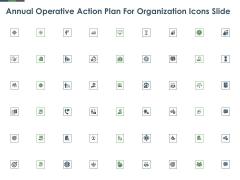 Annual Operative Action Plan For Organization Icons Slide Ppt Portfolio Smartart PDF