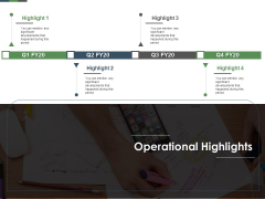 Annual Operative Action Plan For Organization Operational Highlights Ppt Slides Elements PDF