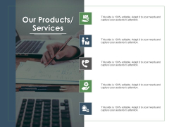 Annual Operative Action Plan For Organization Our Products Services Ppt Ideas Files PDF