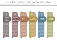Annual Planning Calendar Diagram Powerpoint Guide