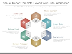 Annual Report Template Powerpoint Slide Information