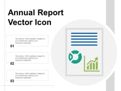 Annual Report Vector Icon Ppt Powerpoint Presentation File Gridlines