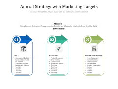 Annual Strategy With Marketing Targets Ppt Powerpoint Presentation Design Templates Pdf